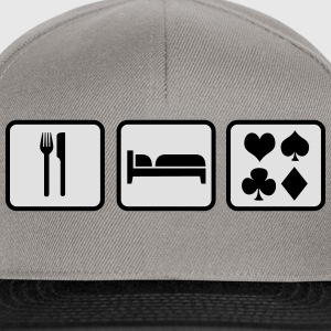 Eat Sleep Poker Felpe - Snapback Cap