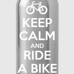 Keep Calm and Ride a Bike T-Shirts - Trinkflasche