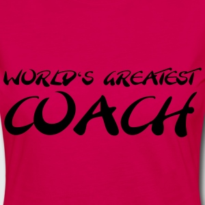 World's greatest Coach T-shirts - Vrouwen Premium shirt met lange mouwen