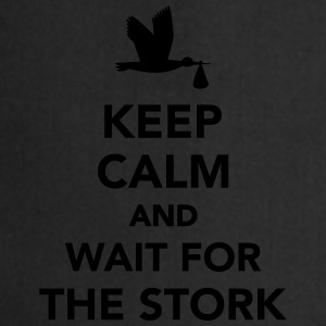Keep calm and wait stork T-Shirts - Kochschürze