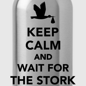 Keep calm and wait stork T-Shirts - Trinkflasche