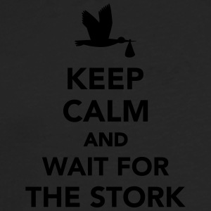 Keep calm and wait stork T-Shirts - Männer Premium Langarmshirt