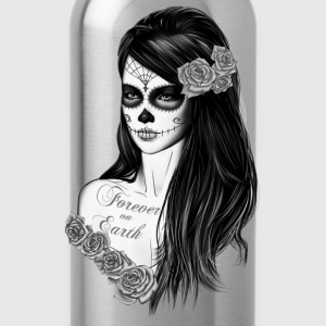 La Catrina schwarz weiß T-Shirts - Water Bottle