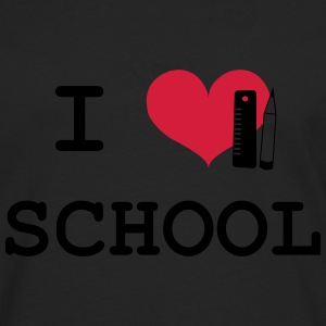 I Love School T-Shirts - Men's Premium Longsleeve Shirt