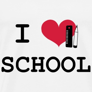 I Love School Hoodies - Men's Premium T-Shirt