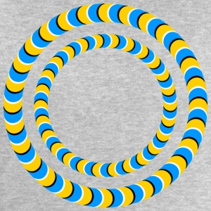 Optical illusion, Rotating tires, phenomenon T-Shirts - Men's Sweatshirt by Stanley & Stella