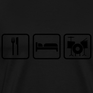 Eat Sleep Schlagzeug, Eat Sleep Drums Sweat-shirts - T-shirt Premium Homme