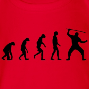 Evolution of Ninja / Samurai Warriors Langarmshirts - Baby Bio-Kurzarm-Body