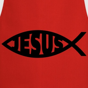Jesus / Christian Fish 2 Sweaters - Keukenschort