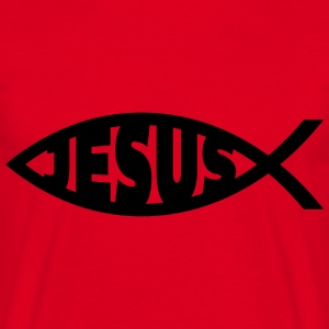 Jesus / Christian Fish 2 Sweat-shirts - T-shirt Homme