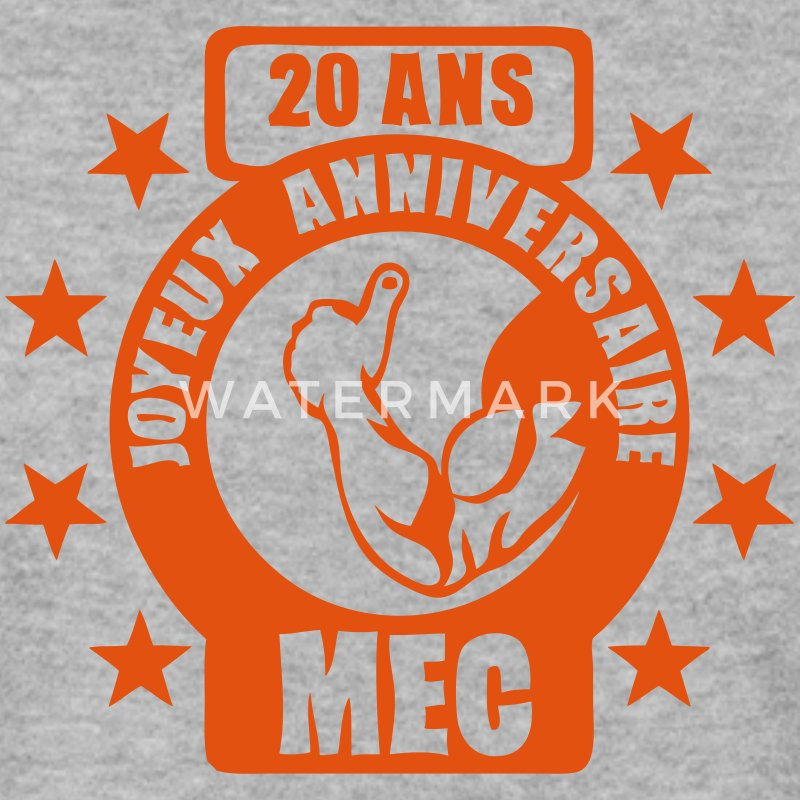 20 ans mec bras ok muscle anniversaire Sweat-shirts - Sweat-shirt Homme