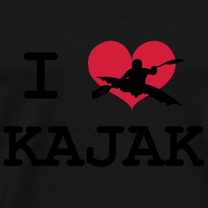 I Love Kajak Hoodies - Men's Premium T-Shirt