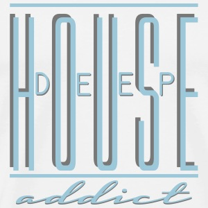 DEEP HOUSE ADDICT Badges - T-shirt Premium Homme