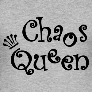 Chaos Queen - Männer Slim Fit T-Shirt