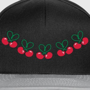 Cherry Vintage Heart Deco Patjila Long Sleeve Shirts - Snapback Cap