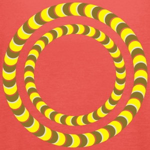 Optical illusion, Rotating tires, phenomenon T-shirts - Vrouwen tank top van Bella
