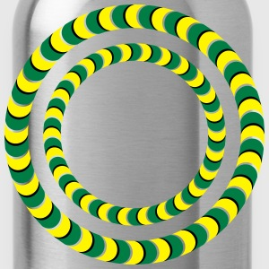 Optical illusion, Rotating tires, phenomenon T-Shirts - Water Bottle