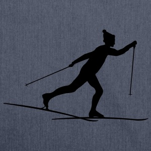Cross country skiers Cross country T-Shirts - Shoulder Bag made from recycled material