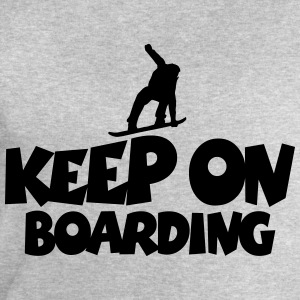 Keep On Boarding Snowboard Design T-Shirts - Men's Sweatshirt by Stanley & Stella
