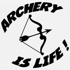 Archery is life ! Flaskor & muggar - Premium-T-shirt herr