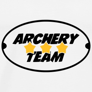 Archery Team Flessen & bekers - Mannen Premium T-shirt