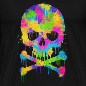Trendy & Cool Abstract Graffiti Skull  Tröjor - Premium-T-shirt herr