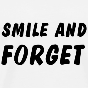 smile and forget Kopper & flasker - Premium T-skjorte for menn