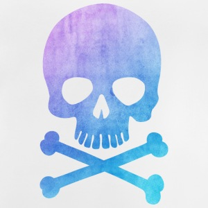 Trendy & Cool Water Color Hipster Skull - kunst  T-shirts - Baby T-shirt