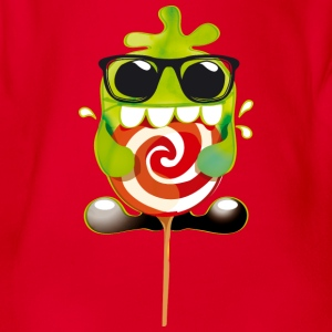 lolli monster - Baby Bio-Kurzarm-Body