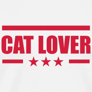 Cat Lover Kopper & flasker - Premium T-skjorte for menn