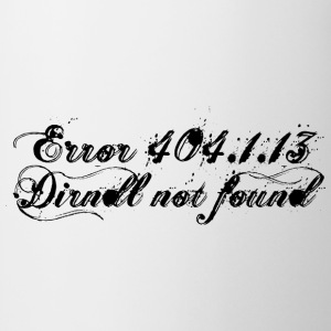 Error 404 Dirndl not found - Black T-Shirts - Tasse