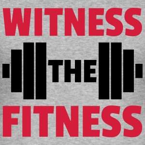Witness The Fitness Barbell  Sweaters - slim fit T-shirt