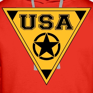 usa star T-Shirts - Men's Premium Hoodie