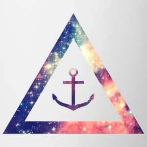 Galaxy / universe / hipster triangle with anchor Camisetas - Taza