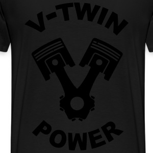 v-twin power vector design Hoodies & Sweatshirts - Men's Premium T-Shirt