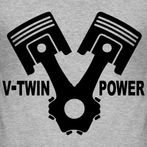 v-twin power vector design 02 Sweat-shirts - Tee shirt près du corps Homme