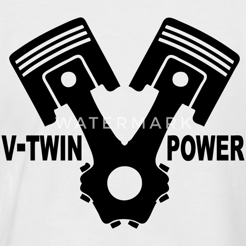 v-twin power vector design 02 T-Shirts - Men's Baseball T-Shirt