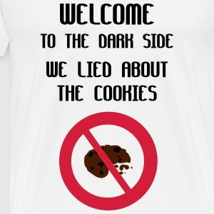 Welcome To The Dark Side We Lied About The Cookies Maglie a manica lunga - Maglietta Premium da uomo