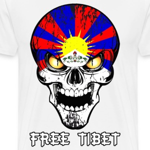 skull free tibet Manches longues - T-shirt Premium Homme