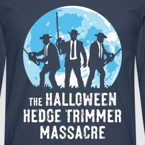 Bleu marine The Halloween Hedge Trimmer Massacre Tee shirts - T-shirt manches longues Premium Homme