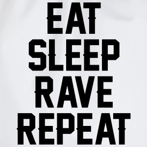 Eat sleep rave repeat T-Shirts - Drawstring Bag