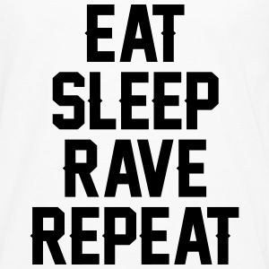 Eat sleep rave repeat T-shirts - Herre premium T-shirt med lange ærmer