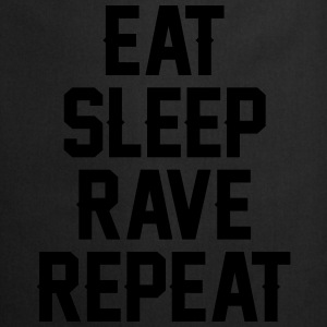 Eat sleep rave repeat T-shirts - Forklæde