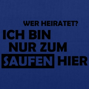 wer heiratet? T-Shirts - Stoffbeutel