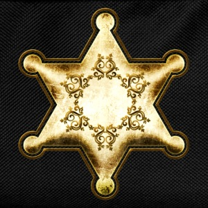 Gold Sheriff Star, Wild West America, Chief, Boss  - Kids' Backpack