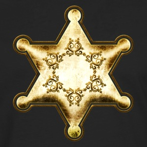 Gold Sheriff Star, Wild West America, Chief, Boss T-skjorter - Premium langermet T-skjorte for menn