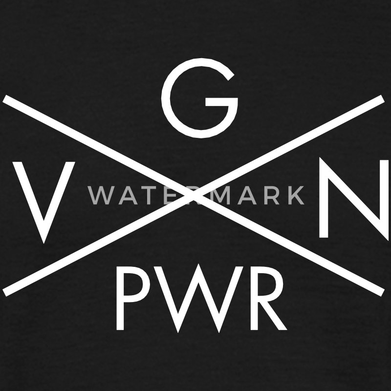 VGN PWR - Vegan Power Cross T-Shirts - Männer T-Shirt