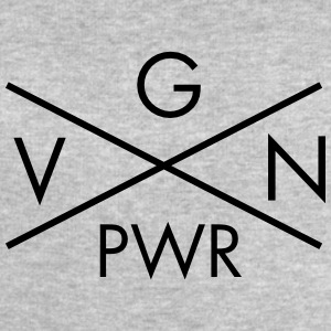 VGN PWR - Vegan Power Cross T-Shirts - Men's Sweatshirt by Stanley & Stella
