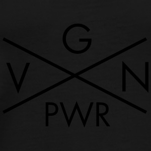 VGN PWR - Vegan Power Cross Gensere - Premium T-skjorte for menn