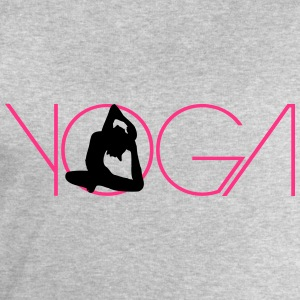 Text woman logo Yoga exercise T-Shirts - Men's Sweatshirt by Stanley & Stella